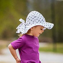 Detské čiapky - Detský klobúk grey dots - 12030791_