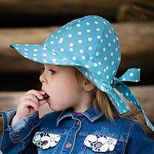 Detské čiapky - Detský klobúk mint dotties - 12030811_