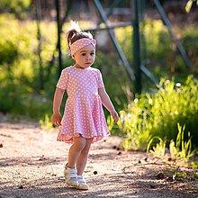 Detské oblečenie - Šaty pink dots - 12030967_