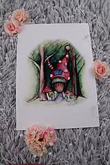 Obrazy - ART print Domček v lese - 12028548_