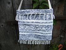 Iné tašky - Tkaná taška bielo-sivá 1 - 12028309_