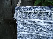 Iné tašky - Tkaná taška bielo-sivá 1 - 12028312_