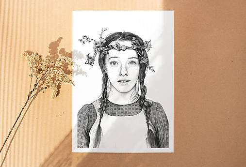 Anna ze Zeleného domu - kresba, A4