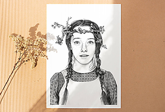 Obrazy - Anna ze Zeleného domu - kresba, A4 - 12032504_