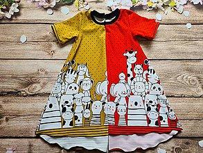 Detské oblečenie - Šaty - bordúra zvieratká - 12033277_