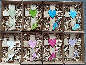 Dekorácie - Set krížik a ruženec na prvé sväté prijímanie - 12031442_