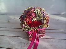 Dekorácie - Kvetinová krabička prírodná ... láska je tu s nami ... - 12033023_