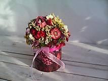 Dekorácie - Kvetinová krabička ... s prírodnými kvietkami ... - 12033057_