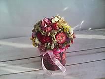 Dekorácie - Kvetinová krabička ... s prírodnými kvietkami ... - 12033060_
