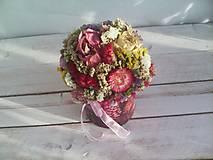 Dekorácie - Kvetinová krabička ... s prírodnými kvietkami ... - 12033062_