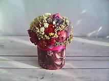 Dekorácie - Kvetinová krabička ... s prírodnými kvietkami ... - 12033063_