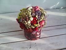 Dekorácie - Kvetinová krabička ... s prírodnými kvietkami ... - 12033064_