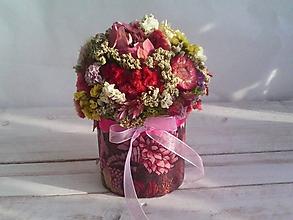 Dekorácie - Kvetinová krabička ... s prírodnými kvietkami ... - 12033056_