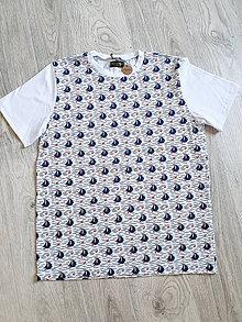 Tričká - Pánske tričko loďky - 12033595_