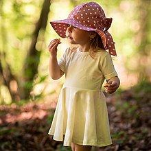 Detské oblečenie - Šaty light ecru organic - 12032152_