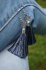 Náušnice - Náušnice - Jeans móda - 12033553_