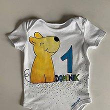 Detské oblečenie - Maľované body k 1. narodeninám (so psíkom 2) - 12033699_