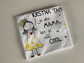 Tričká - Originálne maľované tričko pre KRSTNÚ/ KRSTNÉHO s 2 postavičkami (2) - 12033735_