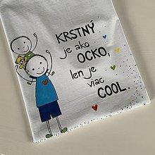 Tričká - Originálne maľované tričko pre KRSTNÚ/ KRSTNÉHO s 2 postavičkami (3) - 12033741_