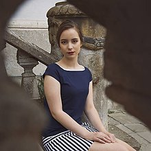 Tričká - Dark Blue - 12032982_