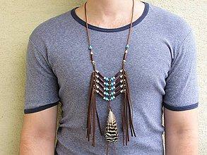 Náhrdelníky - Indiánsky náhrdelník II - 12033492_