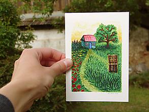 Papiernictvo - pohľadnica: záhradka - 12034490_