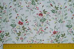 Textil - Látka Kytičky v papradí - 12035891_