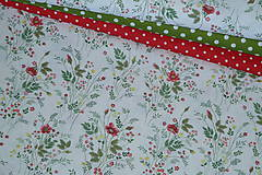 Textil - Látka Kytičky v papradí - 12035894_