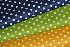 Textil - Látka Biela bodka 6 mm - 12036062_