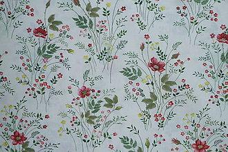 Textil - Látka Kytičky v papradí - 12035883_