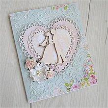 Papiernictvo - Svadobná pohľadnica - 12036661_