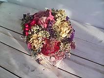 Dekorácie - Prírodná kvetinová krabička ... so sušenými  kvietkami ... - 12036595_
