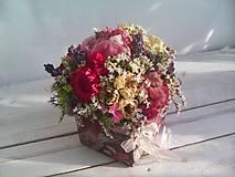 Dekorácie - Prírodná kvetinová krabička ... so sušenými  kvietkami ... - 12036596_