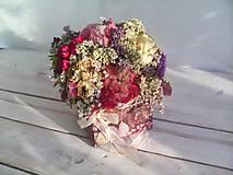 Dekorácie - Prírodná kvetinová krabička ... so sušenými  kvietkami ... - 12036597_