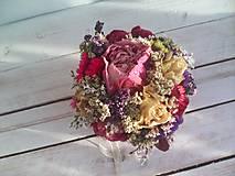 Dekorácie - Prírodná kvetinová krabička ... so sušenými  kvietkami ... - 12036598_