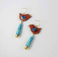 Náušnice - TANA hand made jewellery - keramika/zlato - 12035641_