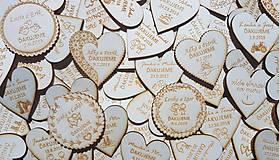 Magnetky - Drevené svadobné magnetky na mieru 5cm - 12036072_