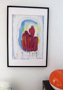 """Obrazy - maľba na hodvábe -obraz """"Strážcovia ticha"""" - 12034455_"""
