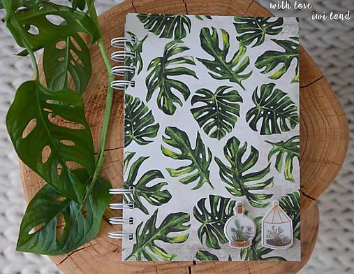 Zápisník (botanical, monstera)