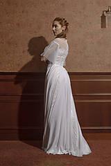 Šaty - Svadobné šaty s hrubou krajkou a tylovou sukňou SKLADOM - 12034088_
