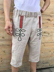 Oblečenie - Pánske ľanové kraťasy - 12034155_