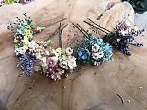 """Ozdoby do vlasov - Kvetinová vlásenka """"dotkni sa dúhy"""" - 12036168_"""