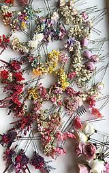 """Ozdoby do vlasov - Kvetinová vlásenka """"dotkni sa dúhy"""" - 12036169_"""
