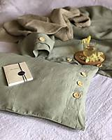 Úžitkový textil - Ľanové posteľné obliečky FARBA Mätová zelená (70x90cm 140x220 - Zelená mint zelená) - 12035897_
