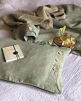 Úžitkový textil - Ľanové posteľné obliečky FARBA Mätová zelená - 12035897_