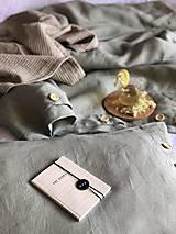 Úžitkový textil - Ľanové posteľné obliečky FARBA Mätová zelená (70x90cm 140x220 - Zelená mint zelená) - 12035898_