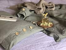 Úžitkový textil - Ľanové posteľné obliečky FARBA Mätová zelená (70x90cm 140x220 - Zelená mint zelená) - 12035902_
