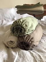 Úžitkový textil - Ľanové posteľné obliečky FARBA Mätová zelená (70x90cm 140x220 - Zelená mint zelená) - 12035908_