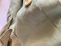 Úžitkový textil - Ľanové posteľné obliečky FARBA Mätová zelená (70x90cm 140x220 - Zelená mint zelená) - 12035918_