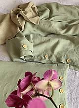Úžitkový textil - Ľanové posteľné obliečky FARBA Mätová zelená (70x90cm 140x220 - Zelená mint zelená) - 12035926_